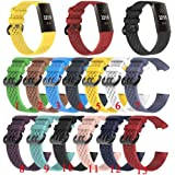 JJSFJH Soft Silicone Replacement Sport Band Strap For Fitbit Charge 3 4 (Color : 7)