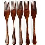 [ラトルウッド]RattleWood フォーク セット 木製 天然木 ウッドカトラリー パスタ 5本set (brown…
