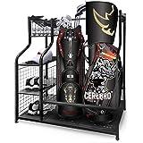 Mythinglogic Golf Storage Garage Organizer,Golf Bag Storage Stand and Other Golfing Equipment Rack & 4 Removable Hooks, Extra