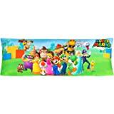 "Franco Kids Bedding Super Soft Microfiber Zippered Body Pillow Cover, 20"" x 54"", Super Mario"