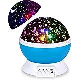 Night Light Projector, Updated 2 in 1 Kids Night Light Moon Star Projector and Undersea Lamp, Star Night Light 360-Degree Rot