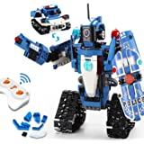 VERTOY Robot Building Kit for Kids 6-12, STEM Remote Control Policeman and Police Car Toys for Boys, Best Birthday Gift for 6