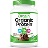 Orgain Organic Plant Based Protein Powder, Creamy Chocolate Fudge - Vegan, Low Net Carbs, Non Dairy, Gluten Free, Lactose Fre