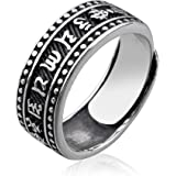 925 Sterling Silver Retro Ring, Open Adjustable Finger Ring for Men,Men's Ring for Father's Day