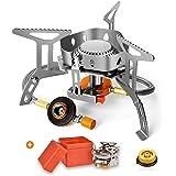 シングルバーナー ガスバーナー ソロキャンプ コンパクト ミニスチールピエゾ シングルバーナー CB缶/OD缶対応 自由に火力調節 収納ケース付き アウトドア ストーブ CB変換アダプター