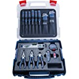 Bosch Professional 1600A016BW Tradespeople Set (Screwdrivers, Pliers, Measuring Tape, Spirit Level, Folding Knife, Further 19