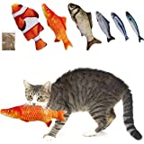 MEWTOGO Pack of 6 Catnip Fish Cat Toys - Realistic Fluffy Fish Kitty Interactive Chewings