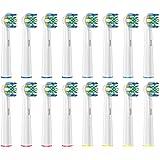 ブラシモ ブラウン オーラルB 電動歯ブラシ用 替えブラシ 対応 歯間ワイパー付ブラシ 16本入 EB25 互換ブラシ