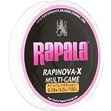 Rapala(ラパラ) PEライン ラピノヴァX マルチゲーム 100m 4本編み ピンク RLX100M