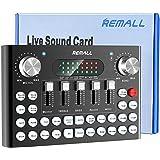 V8 Sound Card REMALLボイスチェンジャー Sound Card V8サウンドカード bluetooth ミキサー 18の効果音 4種類音声変更 女声 ぼいすちぇんじゃー mixer 音楽 楽器 Android Phone/Phone