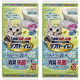 デオトイレ 1週間消臭・抗菌ふんわり香るシート ナチュラルガーデンの香り 10枚入×2個