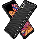 PULEN for Samsung Galaxy Xcover Pro Case,Shock Resistant Brushed Flexible Soft TPU Bumper Cover Phone Protective (Black)