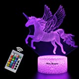 Unicorn Gift Unicorn Night lamp for Kids, 3D Light 7 Colors Change with Remote Holiday and Birthday Gifts Ideas for Children