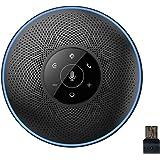 スピーカーフォン eMeet マイクスピーカー ワイヤレススピーカーフォン USB/Bluetooth/AUX対応 遠隔…