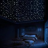 LUMOSX Glow in The Dark Stars for Ceiling Decor - 822 pcs 3D Domed Glow in The Dark Stickers Ceiling Stars w/Bonus Constellat