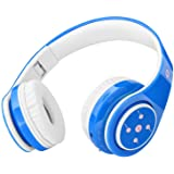 Kids Headphones Bluetooth Wireless 85db Volume Limited Childrens Headset, up to 6-8 Hours Play, Stereo Sound, SD Card Slot, O