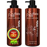 Moroccan Argan Oil Sulfate Free Shampoo and Conditioner Set - Best for Damaged, Dry, Curly or Frizzy Hair - Thickening for Fi