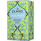 Pukka Organic Tea Three Fennel Tea Bag, 20 Herbal Tea Sachets, 36 g