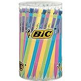 BIC Matic Fun 0.7 mm HB Mechanical Pencil - Assorted Barrel Colours, Tub of 60 Mechanical Pencils