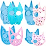 4 Pieces Cat Keychain Resin Mould Dog Keychain Silicone Mould Unicorn Keychain Mould Pendant Resin Mould Epoxy Resin Casting