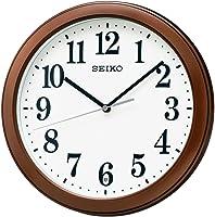 精工表电波挂钟紧凑尺寸塑料框