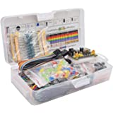 F Fityle Electronic Component Assorted Kit. 830 Breadboard + Jumper + Power Module + Resistor + Capacitor + LED (Pack of 830p