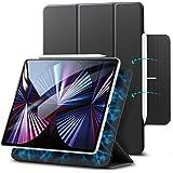 ESR iPad Pro 11 ケース 2021 第3世代 iPad Pro 11 カバー 2020 第2世代 通用 磁気吸着 Apple Pencilのペアリングと充電に対応 オートスリープ ウェイク スリム 軽量 シルク手触り 高級感 三つ折りス
