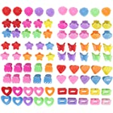 90 Pack Small Mini Flower Star Heart Butterfly Plastic Hair Claw Clips Jaw Barrettes Grip Clamps Pins Updo Decorative Bun Top