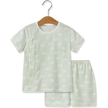 604145e1901ce iTimes Baby ベビー肌着 新生児服 オーガニックコットン100% ふんわり柔らかい肌触り 出産祝い 贈り物