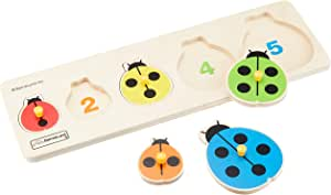 ボーネルンドオリジナル ファーストピックアップパズル てんとう虫 [5ピース] 対象年齢 2歳