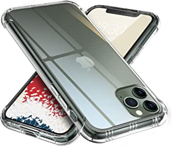 【ONES】 iPhone11ProMax ケース 高透明 米軍MIL規格〔耐衝撃、レンズ保護、滑り止め、軽い、黄ばみなし〕『エアクッション技術、半密閉音室、Qi充電』 クリア カバー Airシリーズ