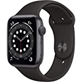 Apple Watch Series 6 (Space Grey Aluminium, 44mm, Black Sport Band, GPS Only)