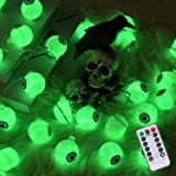 30 LED Halloween Eyeball String Lights, 8 Modes Fairy Lights with Remote, Waterproof Battery Operated Halloween Lights for Ou