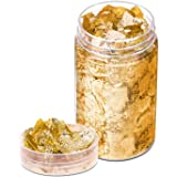 Gold Foil Flakes for Resin, Paxcoo 10 Grams Gold Foil Flakes Imitation Metallic Leaf for Nails, Painting, Crafts, Slime and R