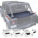 GPCA Wrangler Cargo Cover PRO - Reversible for TOP ON/Topless Jeep JKU Sports/Sahara/Freedom/Rubicon 4DR Unlimited 2007-2017