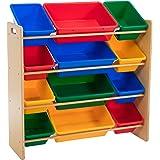 Lenoxx Kids Shelf Storage with 12 Bins Organising Toys Made Easy.