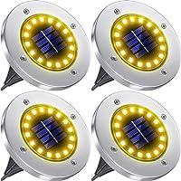 ソーラーライト 埋め込み式 4個セット LED アウトドア 屋外 ガーデンライト 太陽光パネル充電 防犯対策 IP65防…