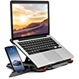 MeFee Laptop Stand Adjustable Laptop Computer Stand Multi-Angle Stand Phone Stand Portable Foldable Laptop Riser Notebook Hol