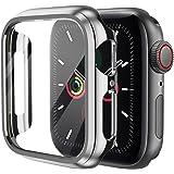 KIMOKU コンパチブル Apple Watch ケース 44mm 40mm PC 保護カバー アップルウォッチ series6/SE/5/4対応(44mm, シルバー)