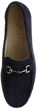 Suede Bit Loafer 11-32-0268-232: Navy