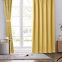 BEDELITE 遮光カーテン 1級 UVカット 2枚組 幅100cm丈135cm 厚手 防寒 断熱 保温 目隠し 洗え…