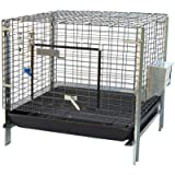 Stackable Rabbit Cage with Feeder Water Bottle Guinea Pig Ferret