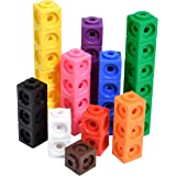 edxeducation-12710 Math Cubes - Set of 100 - Linking Cubes For Early Math - Connecting Manipulative For Preschoolers Aged 3+