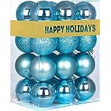 "Christmas Balls Ornaments for Xmas Tree-Shatterproof Christmas Tree Decorations Large Hanging Ball Royal Blue 2.5"""