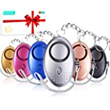 ROMILE Safe Sound Personal Alarm - 5 Pack【Siren Song】 140DB Reusable Security Alarms Keychain with LED Light, Emergency Safet