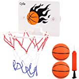Cyfie Basketball Hoop Toy, Office Desktop Game Bathroom Toilet Slam Dunk Gadget with Pump and 2 Balls for Basketball Lovers B