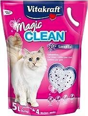 Vitakraft Pet Care VK30874 Magic Clean Lavender Cat Litter, 5L