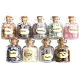 JOVIVI 9 Mini Gemstone Bottles Chip Crystal Healing Tumbled Gem Reiki Wicca Stones Set