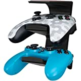 The IRIS - Under Desk Dual Universal Game Controller Mount Holder Hanger for Xbox ONE, Series X, PS5, PS4, PS3, Switch, STEEL