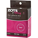 """Zots Clear Adhesive Dots-Bling Tiny 1/8"""" 325 per Pack (Pack of 3)"""
